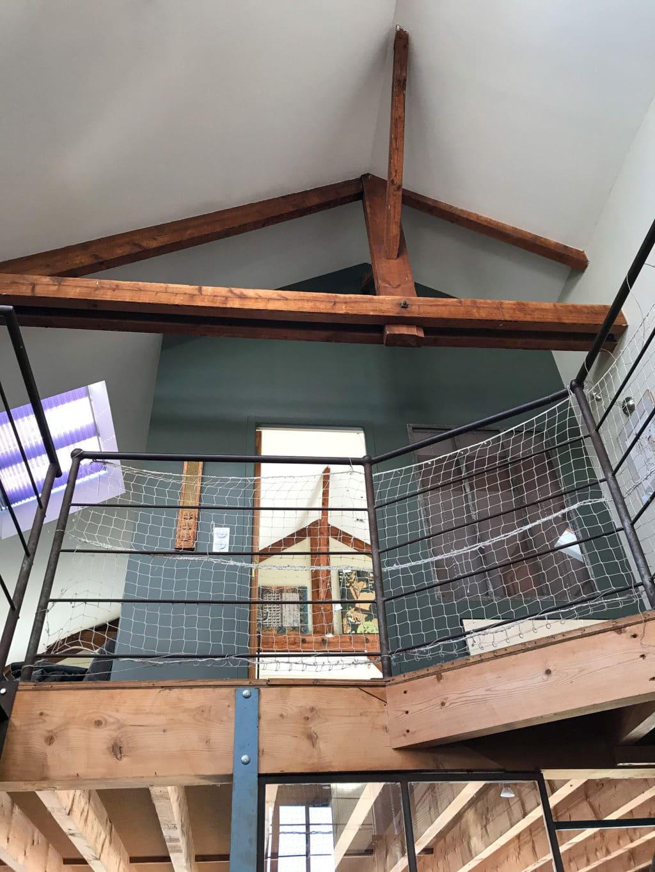 Mezzanine avec filet